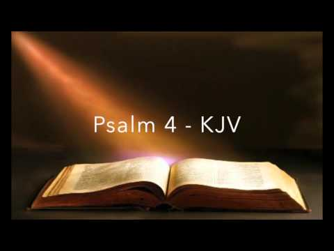 Psalm 4 KJV King James Version Old Testament Holy Bible Verse Audio Bible English