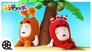 Cartoon | Stranded On An Island With Oddbods | Funny Cartoons For Children