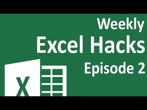Weekly Excel Hacks - Episode 02 - Quick Formats/IFERROR/Interactive Graphs