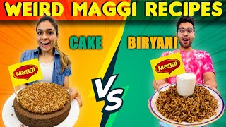 We Tried The WEIRDEST Maggi Recipies 😱 || Don't Try This At Home Before Watching 😂