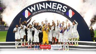 France lift the UEFA Nations League trophy