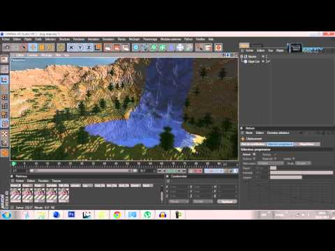Comment faire une animation MINECRAFT C4D ! ( HD ) | InfinityDesignMAX