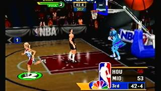 NBA Showtime (N64) - Houston Rockets vs Midway All-Stars