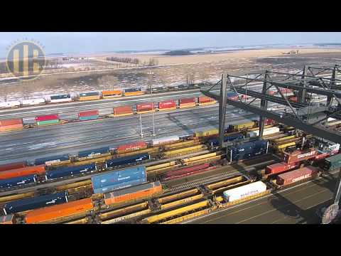 CSX North Baltimore Intermodal Yard (Drone Video)