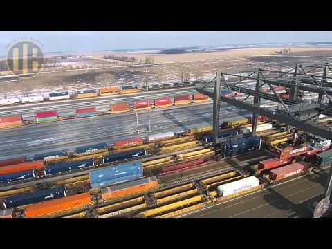 CSX North Baltimore Intermodal Yard (Drone Video)