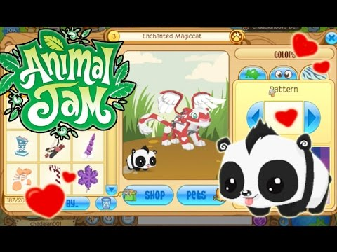 Animal Jam - Adopting an adorable baby panda and Valentine's clothes!