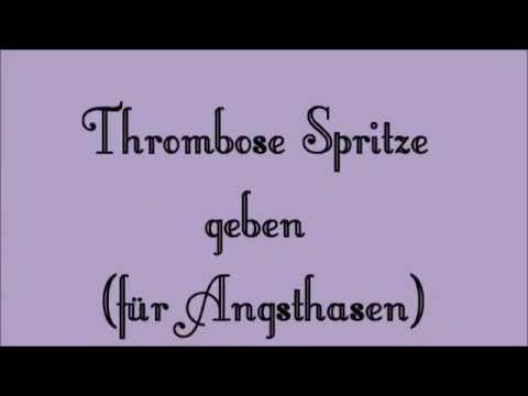Thrombose Spritze Setzen