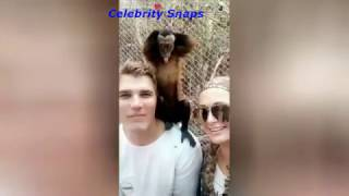 Paris Hilton Visits Exotic Zoo With Her Boyfriend Chris Zylka Snapchat Stories March 14th 2017