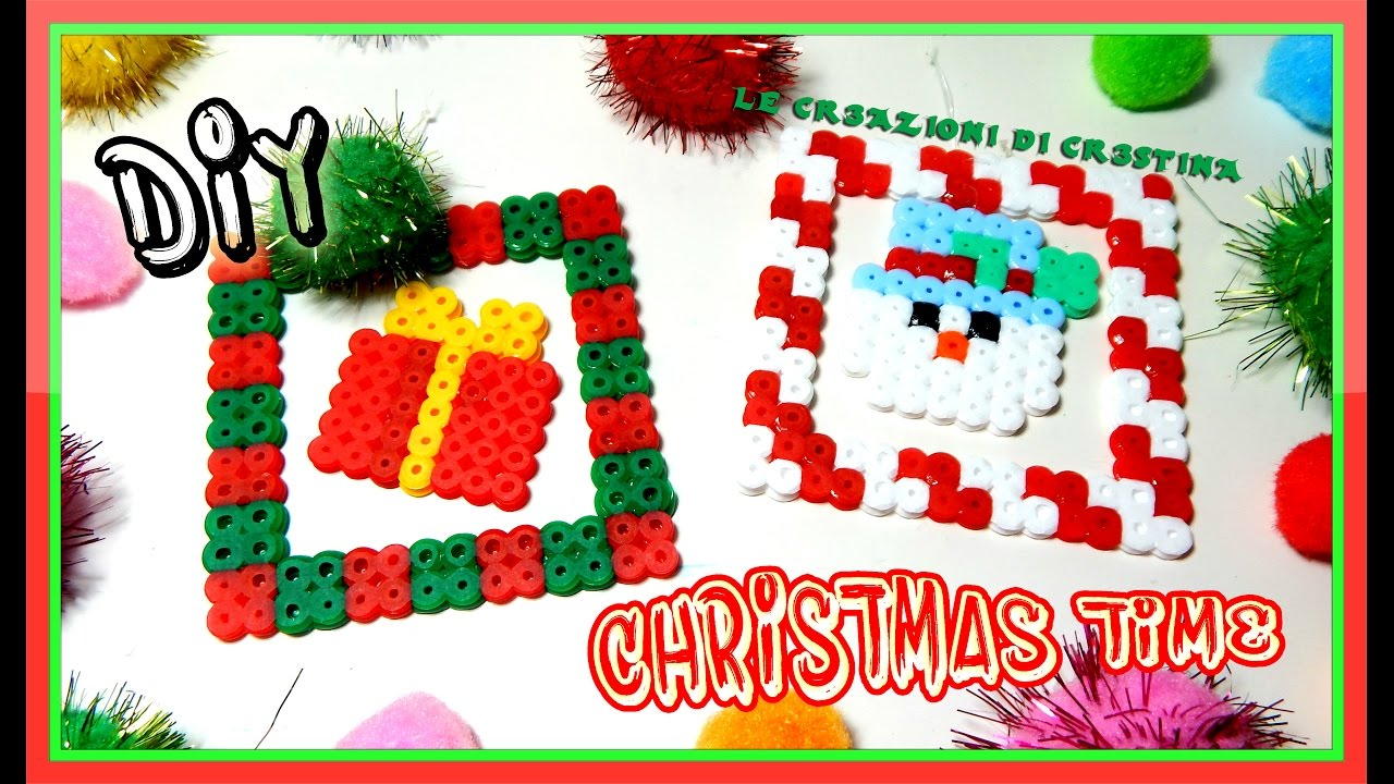 Decorazioni Natalizie Youtube.Decorazioni Natalizie Fai Da Te Con Perline Hama Beads Pyssla Diy Christmas Time Tutorial
