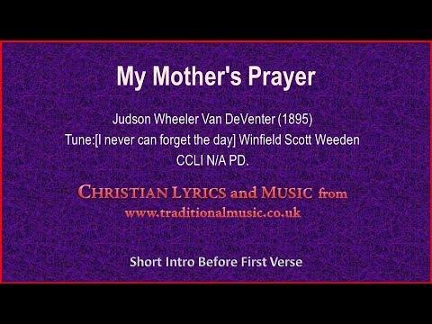 photo regarding Moms in Prayer Prayer Sheets identified as My Moms Prayer - Hymn Lyrics Songs - YouTube