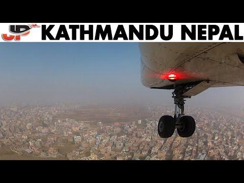 Landing Gear View Touchdown in KATHMANDU!