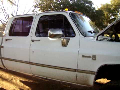 Chevy 2500 Diesel For Sale >> 86 Chevy crew cab 4x4 LB7 Duramax swap - YouTube
