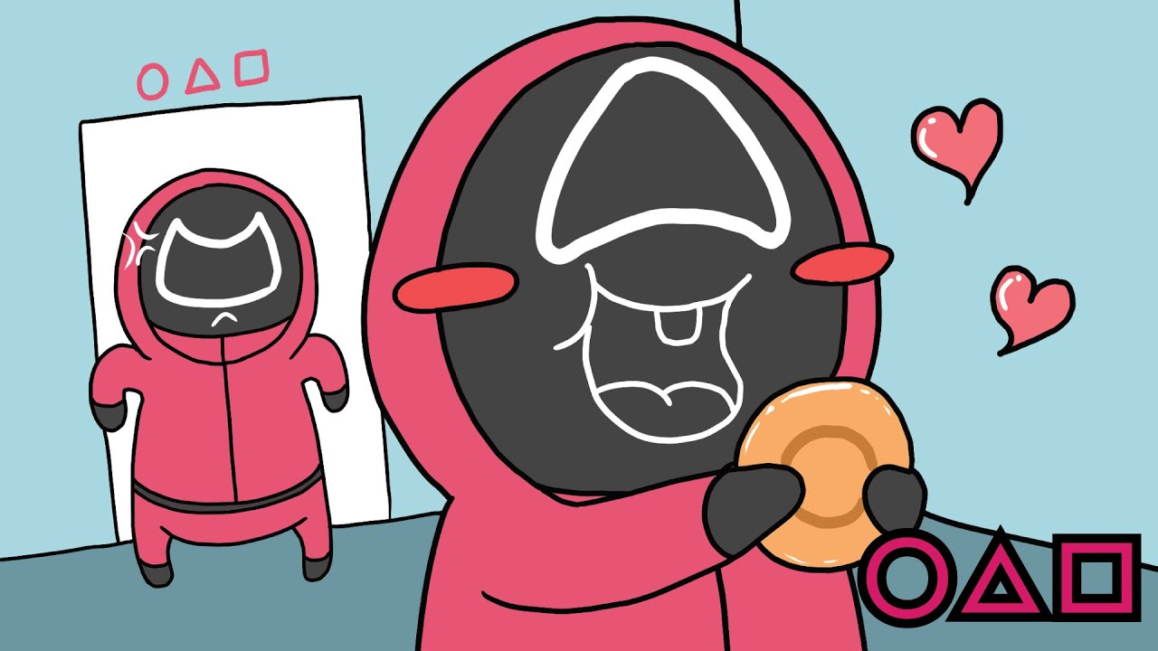 귀여운 세모  [Squid Game Dalgona Pink Soldiers]