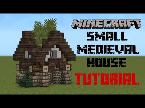 Minecraft - Medieval house tutorial - YouTube