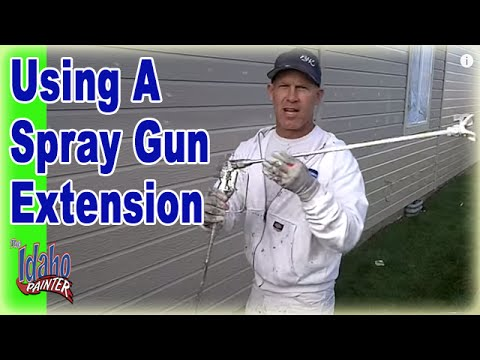Using a Graco Gun Extension With An Airless Sprayer.  Airless Sprayer Tips