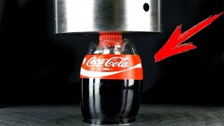 EXPERIMENT: Coca Cola under Hydraulic Press thumbnail