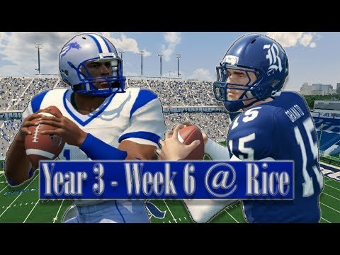 NCAA Football 14 - Baltimore State Dynasty Year 3 - W6 @ Rice