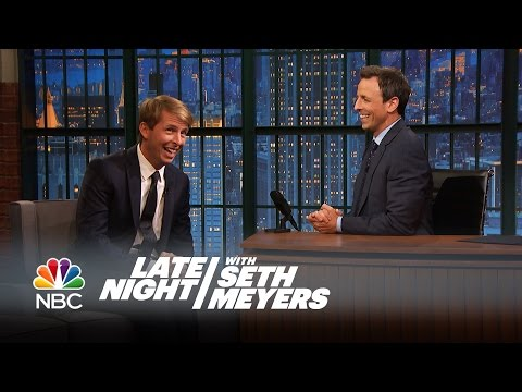 Jack McBrayer and Seth Go Way Back  Late Night with Seth Meyers