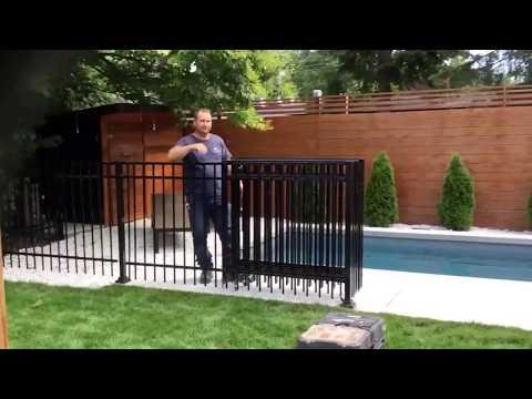 Cloture de piscine amovible  Fabricant et Installateur. PARTOUT AU QUÉBEC 514-622-0010