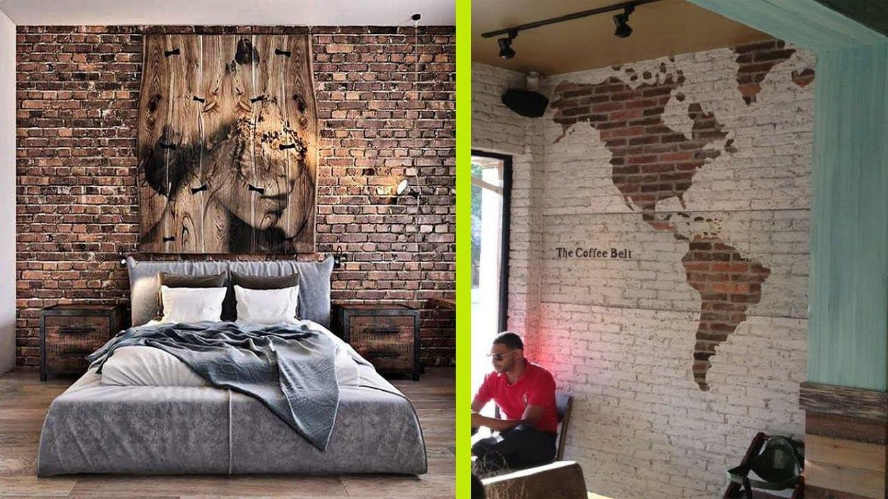 Beautiful Brick Wall Interior Home Designs   Brick Wall Decoration Ideas