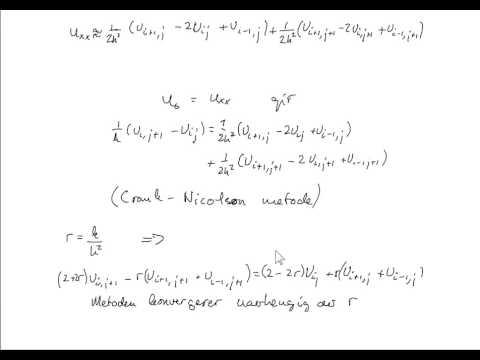 Numercal solutions for parabolic problems Crank Nicolson method
