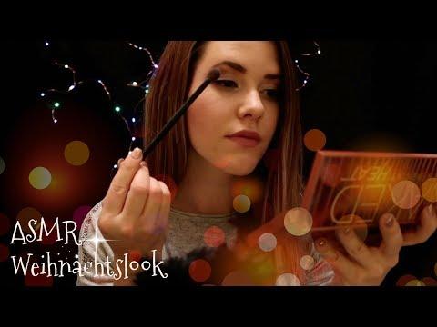 ASMR Weihnachtliches MAKE UP ♡ Doing my Make up in German/Deutsch
