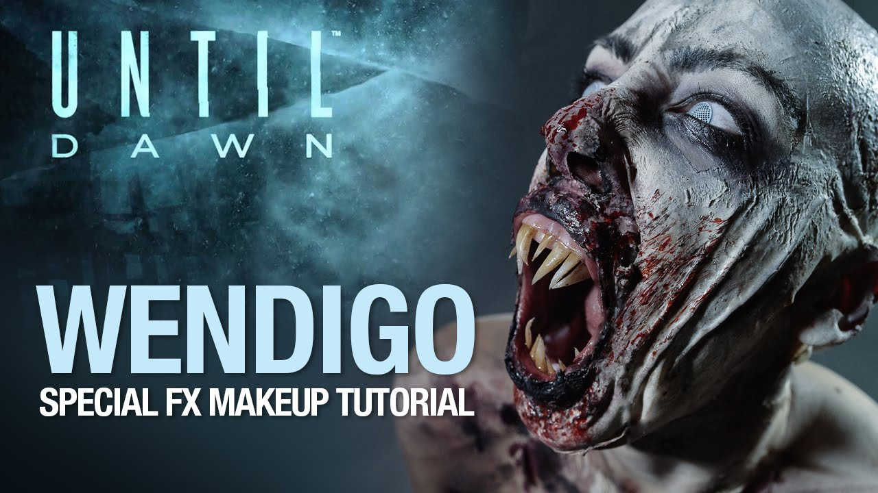 Until Dawn wendigo halloween makeup tutorial & Until Dawn wendigo halloween makeup tutorial - YouTube