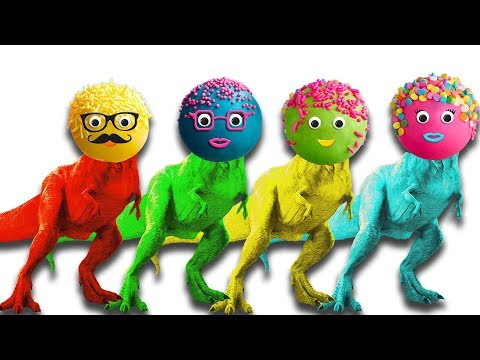 colors-learn-cake-pop-heads-dinosaur-finger-family-nursery-song-kids