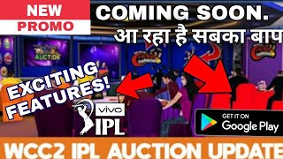 OMG🔥!WCC2 BIGGEST UPDATE PROMO LAUNCHED || Sleding,Ipl auction,Paytm scan and many more..