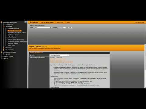 Upload Schedules - Non SIDEARM Clients