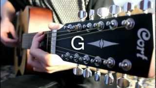 Бумбокс - Вахтерам (краткий разбор на гитаре).mpg