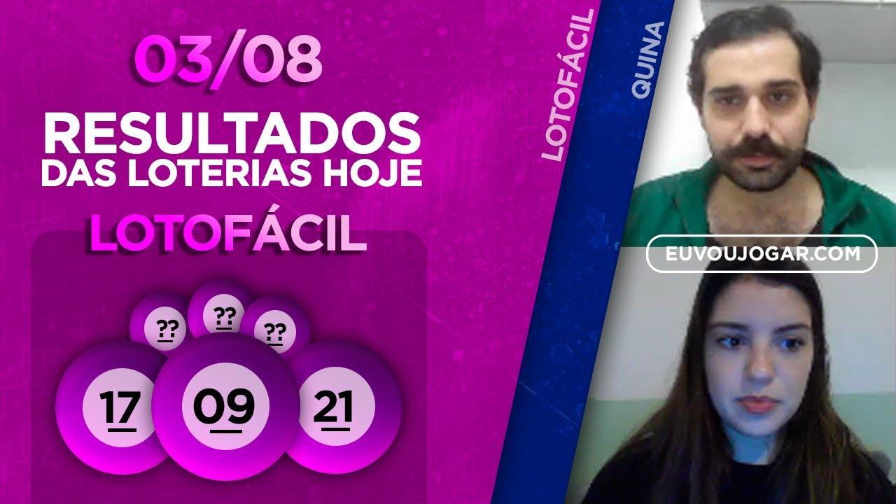 🔴 LIVE: RESULTADO DA LOTOFÁCIL 2001 | QUINA 5330 - 03/08