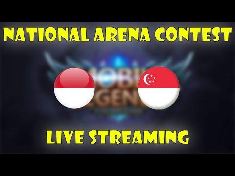 INDONESIA VS SINGAPURA ARENA CONTEST MOBILE LEGENDS !