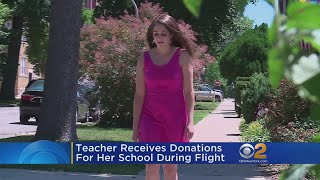 Teacher Receives Donations For Her School During Fight