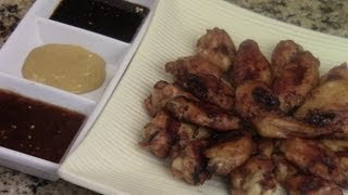 Super Bowl Food Soy Marinated Chicken Wings With Trio Sauces