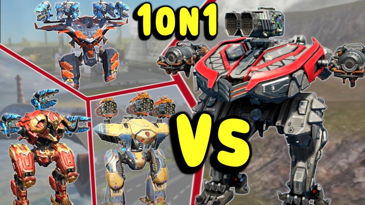 Download New LUCHADOR 1on1 Vs Titans - War Robots Test Server Gameplay WR