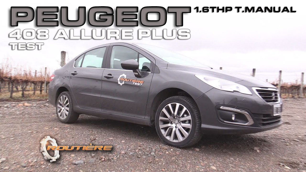peugeot 408 allure plus 1.6thp tm test - routière - pgm 350 - youtube