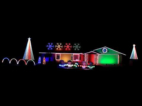 The Man by The Killers 2017 Christmas Light Show Display