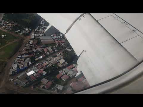 Beautiful Arial View Of Addis Ababa When Boing 737 Landing