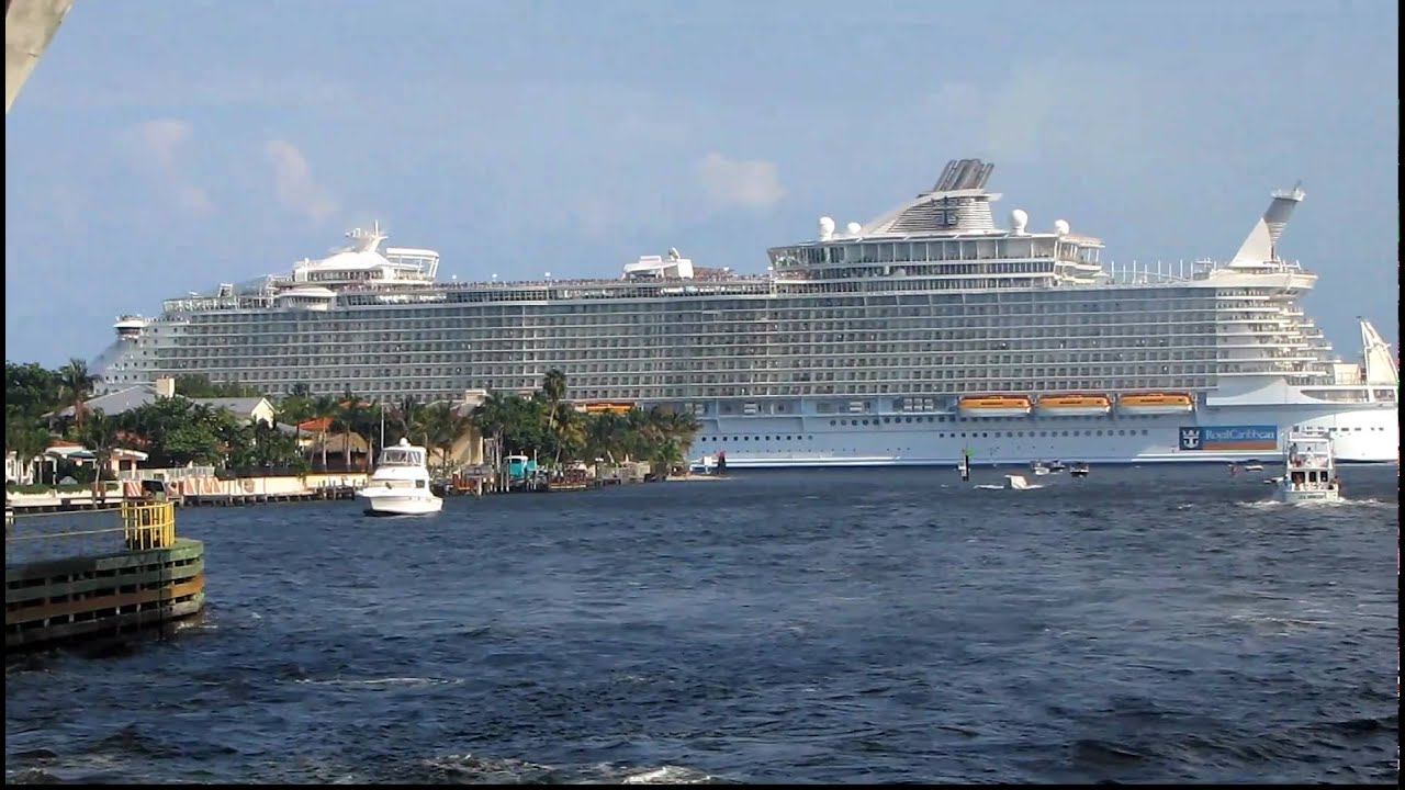 LARGEST CRUISE SHIP IN THE WORLD Oasis Of The Seas Departing Fort - Cruises from fort lauderdale