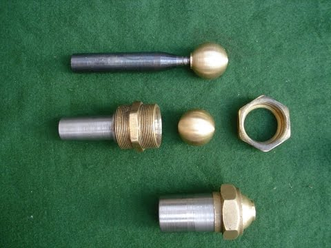 Easy To Make Ball Turning Fixture Using Brass Plumbing Couplings