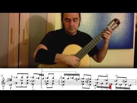 Bach Fugue In A Minor - BWV 1000 With Animated Sheet Music