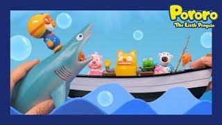 Pororo Shark Toy Story | #1 Catch the Big Fish | Pororo catches a SHARK? | Pororo's mini world