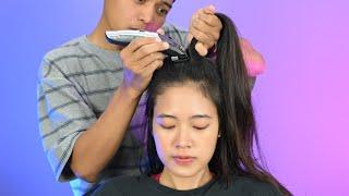 "Cewek Cantik Cukur Rambut PITAKKK 😭 Nyesel atau Ketagihan ya..?!"""