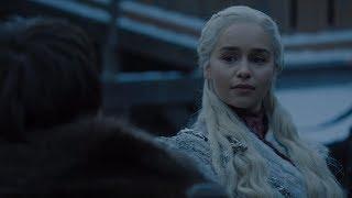 Game Of Thrones 8x01 - Sansa meets Daenerys - Bran told Daenerys About Viserion