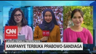 Kampanye Terakhir Pilpres - Jokowi putihkan GBK, Sandi riuhkan Tangerang