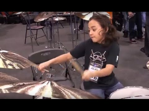 Amazing Kids Playing Drums at NAMM 2013