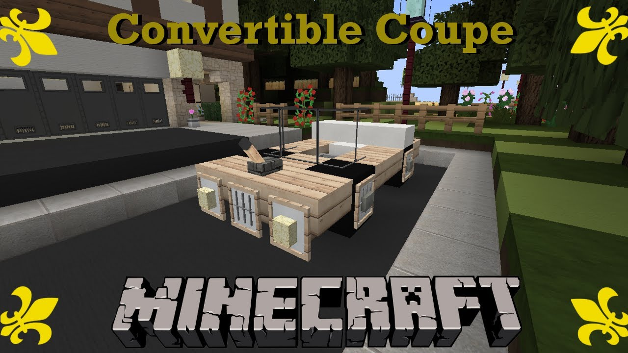 How To Build A Convertible In Minecraft