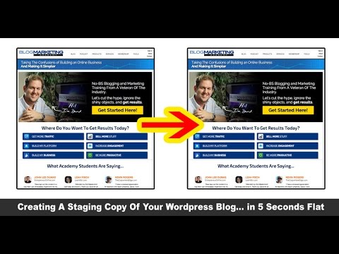 The 5 Second Method To Creating A Staging Area For Your WordPress Site
