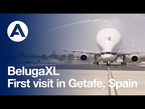 #BelugaXL visits Getafe Plant for first time